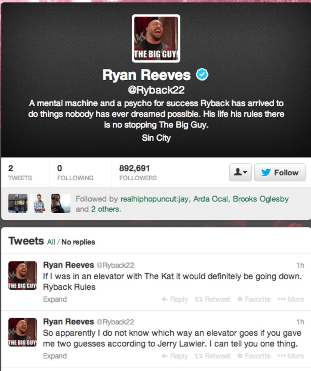 Ryback's Lawler Tweets