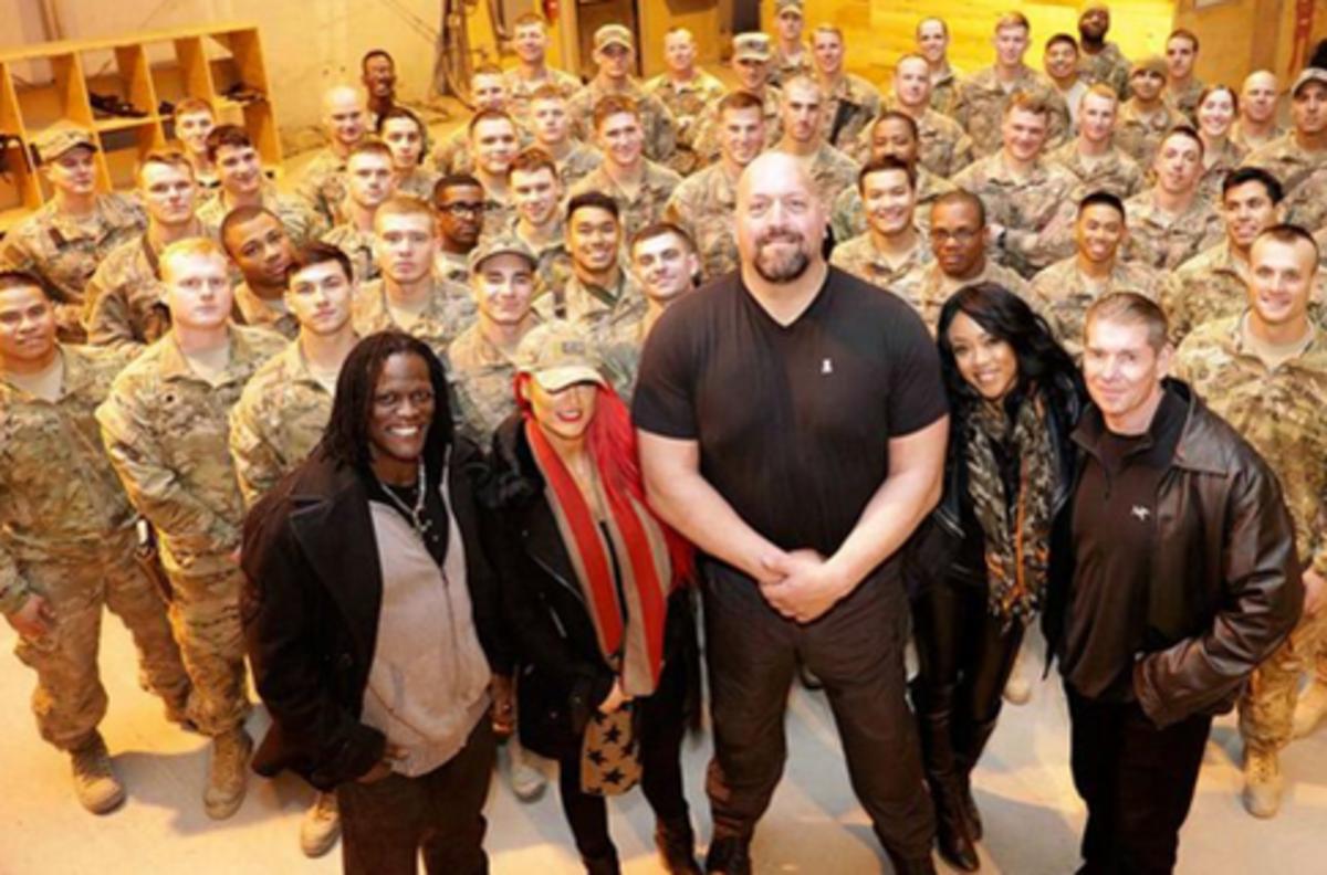 Vince McMahon, Big Show, Eva Marie, Alicia Fox, R-Truth
