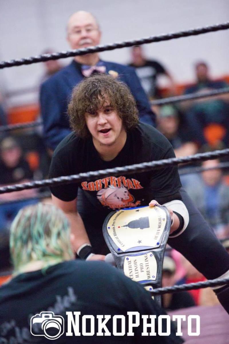 CIPW Heavyweight Champion Derek Moss faces off with challenger, Steven Bishop.