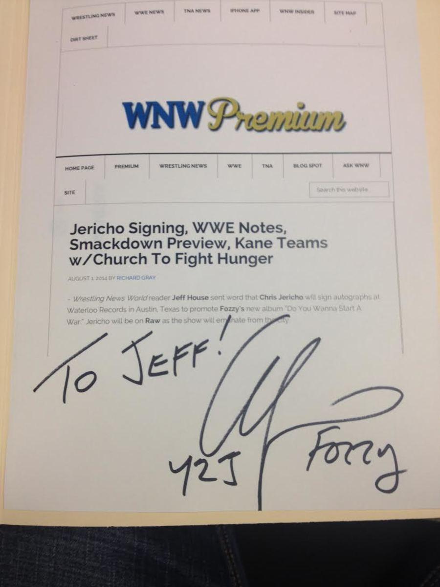 Jericho, Jeff & WNW