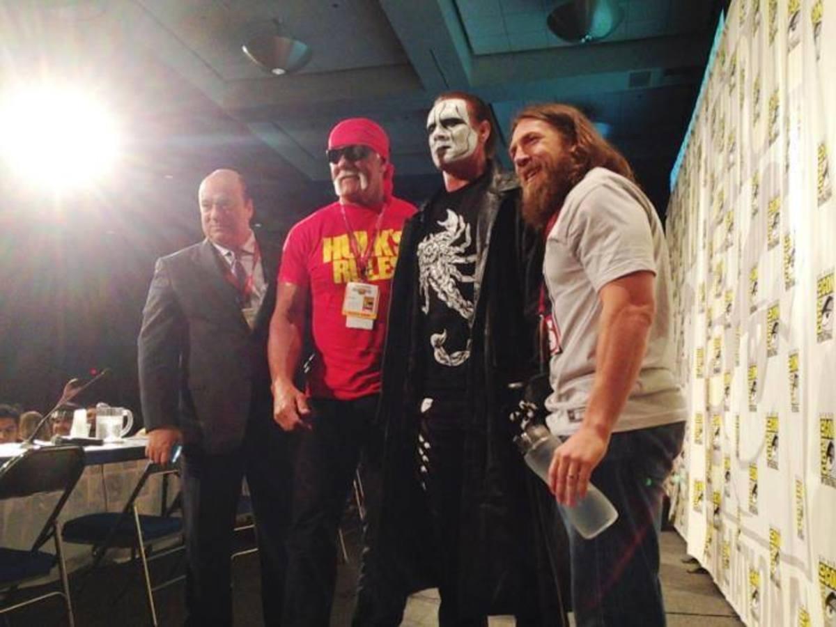 Paul Heyman, Hulk Hogan, Sting & Daniel Bryan