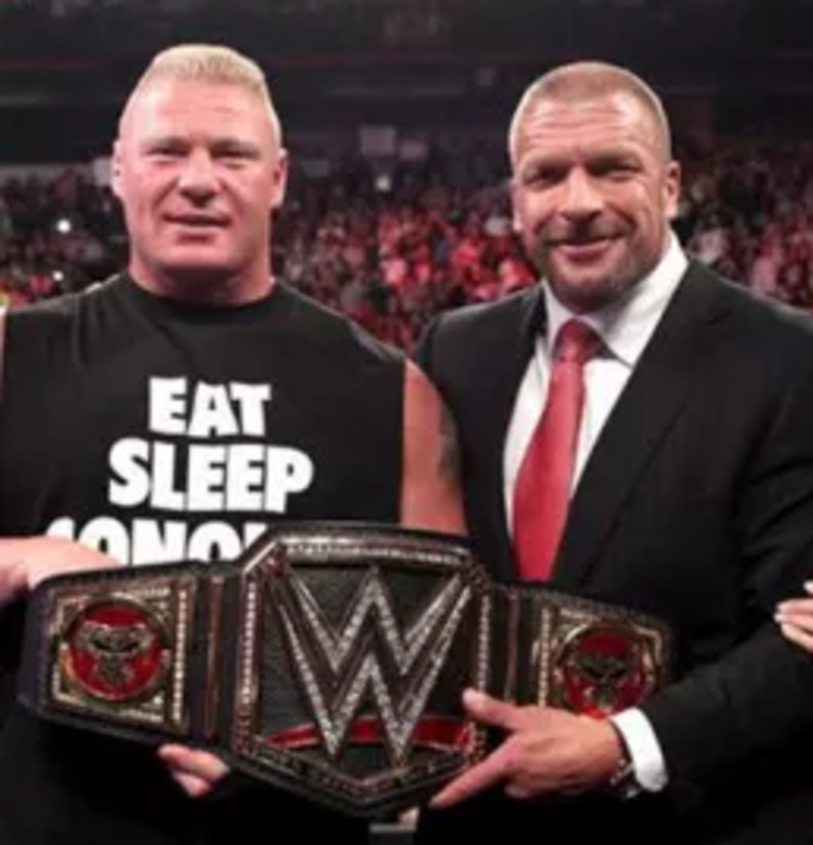 Brock Lesnar and Triple H Small