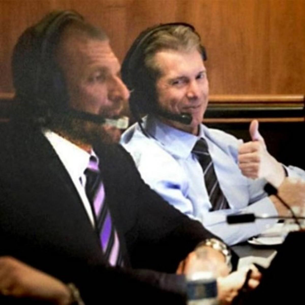 Triple H & Vince McMahon at Gorilla