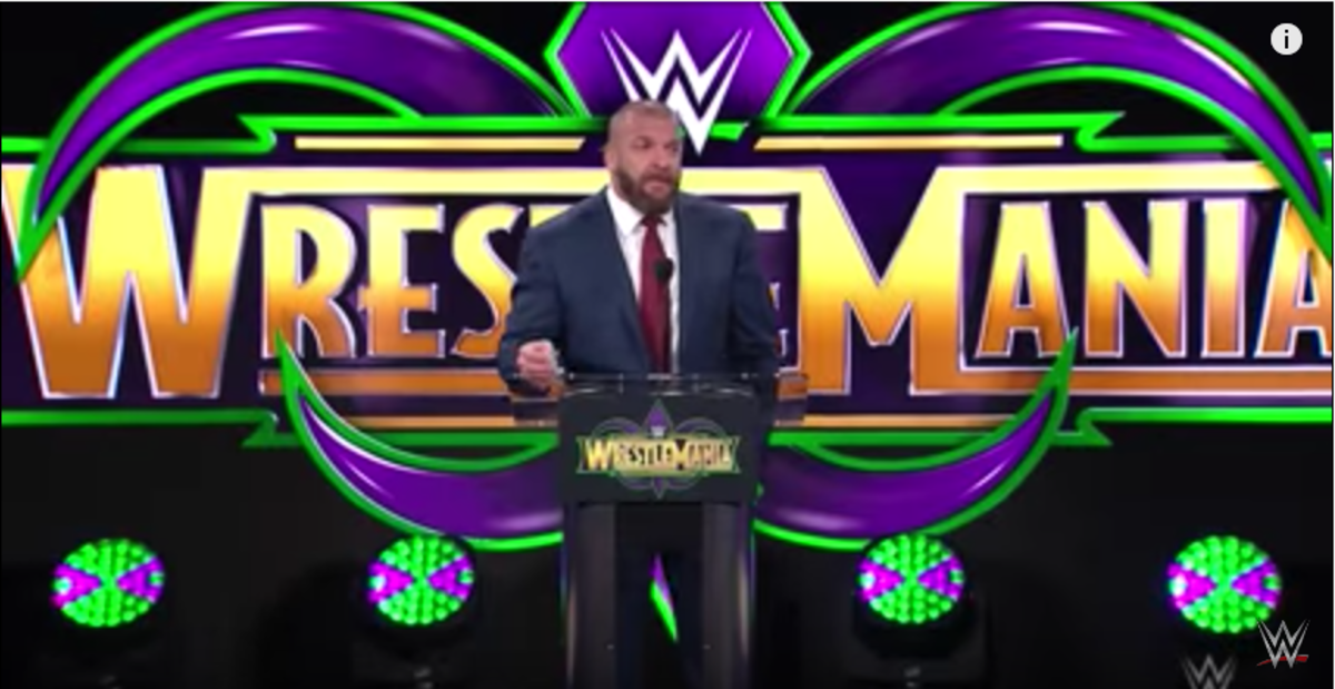 Wrestlemania 34 Triple H