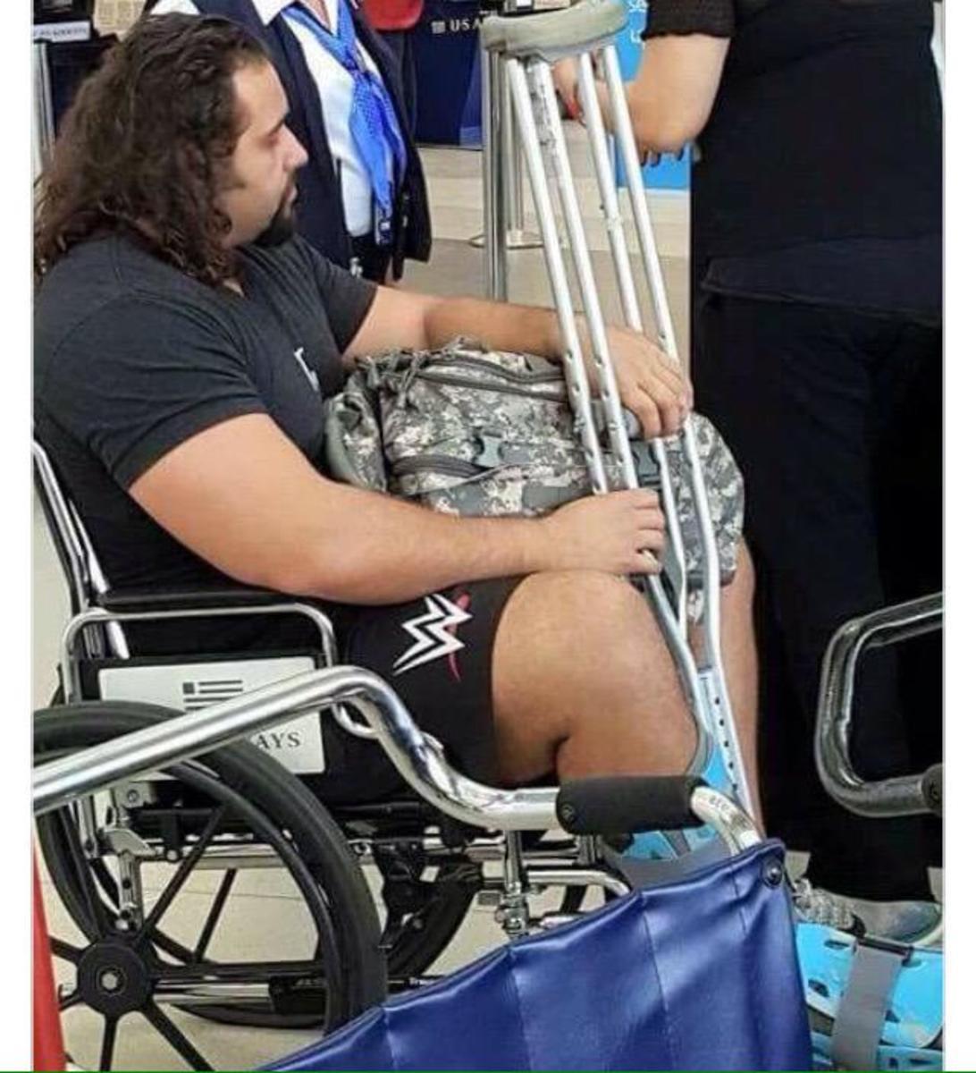 Rusev Injured