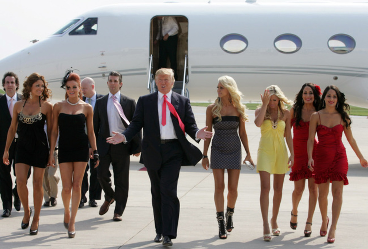 Donald Trump and WWE Divas