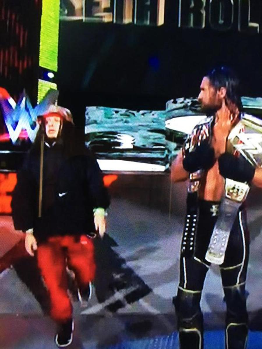 Crazed Fan & Seth Rollins
