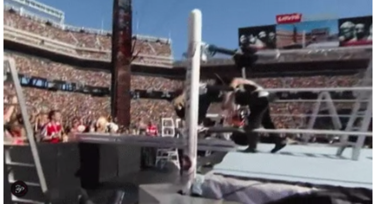 Dean Ambrose Wrestlemania 31 Bump