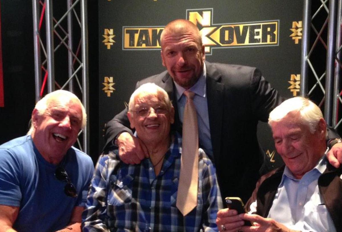 Ric Flair, Dusty Rhodes, Triple H, Pat Patterson