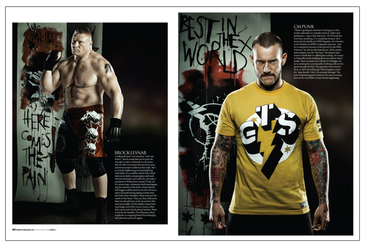 wwe faces punk lesnar