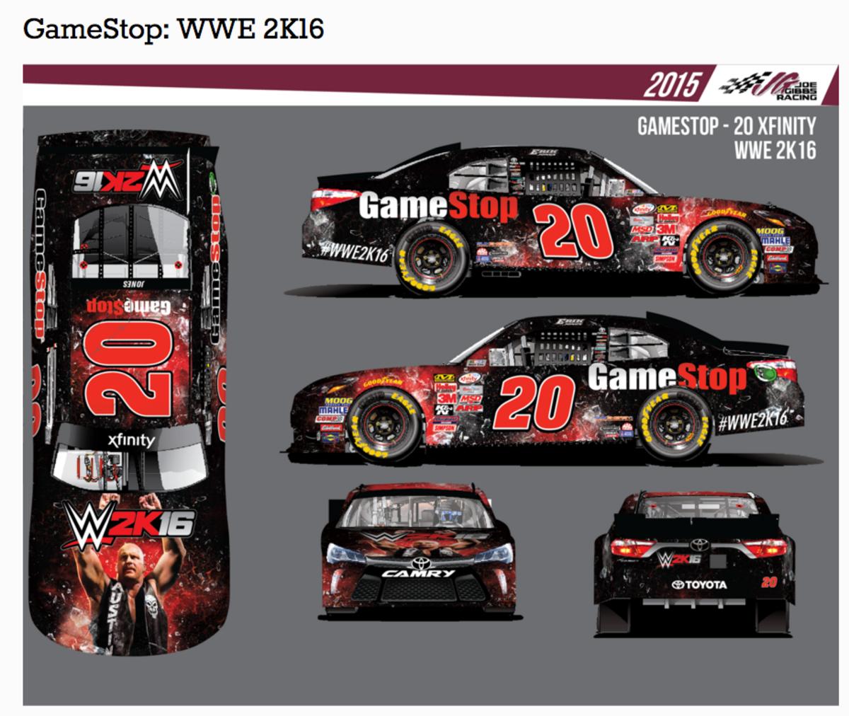 WWE 2K16 Race Car