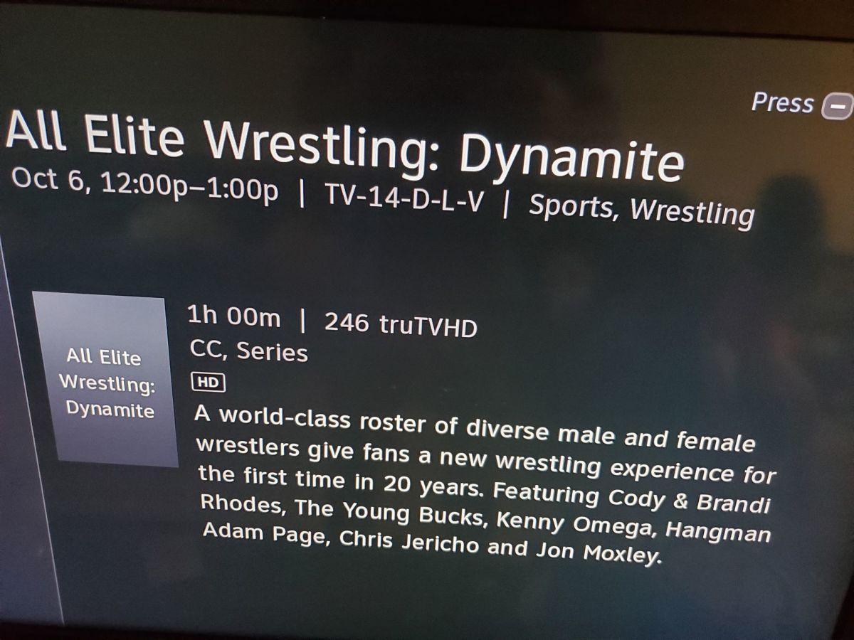 AEW Dynamite Scheduled on DirecTV