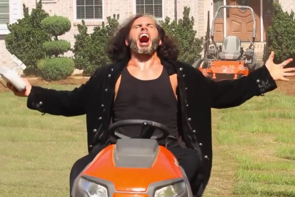 Matt Hardy lawn mower