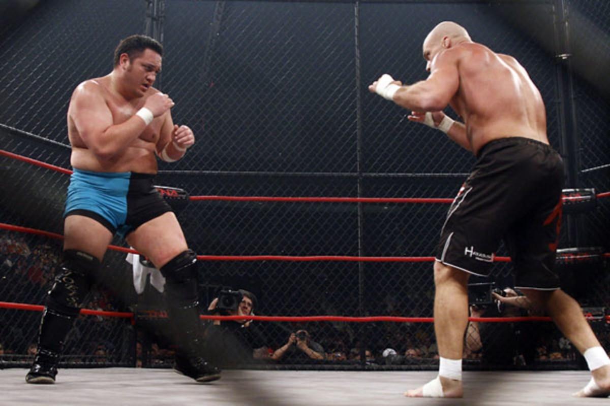 Lockdown 2008 photo Samoa Joe vs Kurt Angle