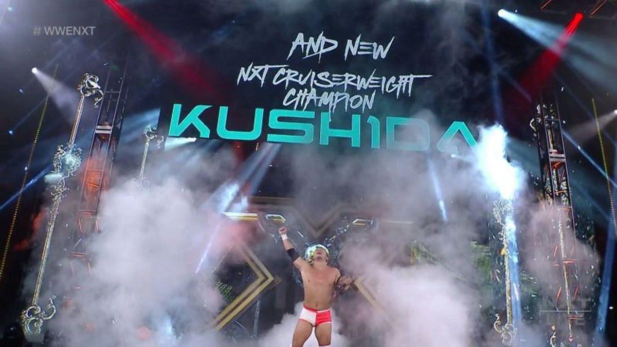 Kushida Cruiserweight Champion win